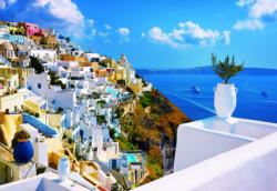 Greece Seascape / Coastal Living Jigsaw Puzzle