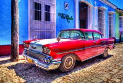 Cuba: Chevrolet Oldtimer Nostalgic / Retro Jigsaw Puzzle