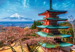 Mount Fuji / Mont Fuji Landscape Jigsaw Puzzle