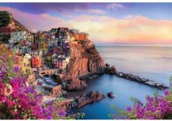 View Of Manarola Seascape / Coastal Living Jigsaw Puzzle