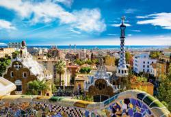 Guell Park, Barcelona Spain Jigsaw Puzzle