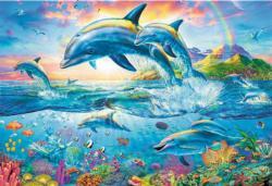 Dolphin Family Fish Jigsaw Puzzle