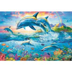 Dolphin Family Fish Jigsaw Puzzle