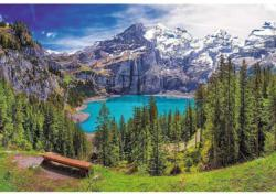 Lake Oeschinen, Alps, Switzerland Lakes / Rivers / Streams Jigsaw Puzzle