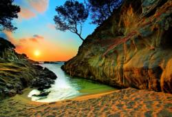 Sunrise Costa Brava Sunrise/Sunset Jigsaw Puzzle
