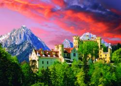 The Hochenschwangau Castle, Bavaria Sunrise/Sunset Jigsaw Puzzle