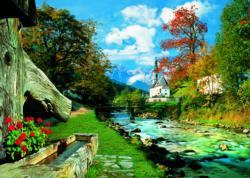 Bavarian Alps, Germany Lakes / Rivers / Streams Jigsaw Puzzle