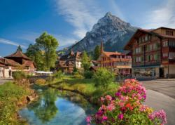 Alps in the Summer / Alpes en été Landscape Jigsaw Puzzle