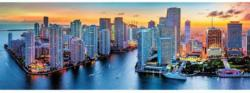Miami After Dark - Scratch and Dent Sunrise / Sunset Panoramic Puzzle