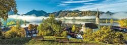 By The Schliersee Lake Lakes / Rivers / Streams Panoramic Puzzle