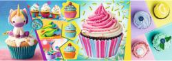 Colourful Cupcakes Sweets Panoramic Puzzle