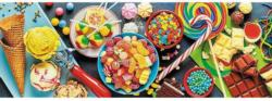 Sweet Delights Sweets Panoramic Puzzle