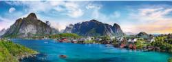 Lofoten Archipelago, Norway Seascape / Coastal Living Panoramic Puzzle