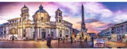 Piazza Navona, Rome Italy Panoramic Puzzle