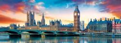 Big Ben And Palace Of Westminster, London London Panoramic Puzzle