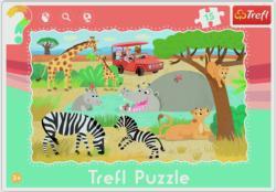 Safari Zebras Frame Puzzle