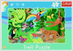 Tropical Forest Cartoons Frame Puzzle