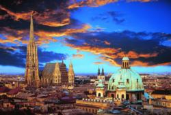 A Night in Vienna Skyline / Cityscape Jigsaw Puzzle