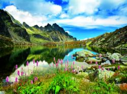 Pond in Tatras Mountains, Slovakia Landscape Jigsaw Puzzle