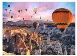 Balloons Over Cappadocia Landscape Jigsaw Puzzle