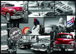Montage, Havana Collage Jigsaw Puzzle