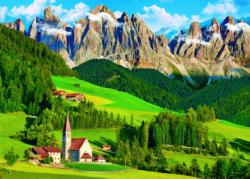 Dolomites, Italy Churches Jigsaw Puzzle