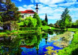 Chiemsee Lake, Bavaria, Germany Lakes / Rivers / Streams Jigsaw Puzzle