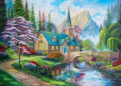 Woodland Seclusion Churches Jigsaw Puzzle