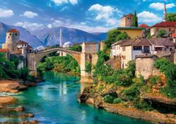 Old Bridge In Mostar, Bosnia And Herzegovina Bridges Jigsaw Puzzle