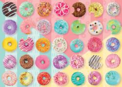 Sweet Donuts Pattern / Assortment Jigsaw Puzzle