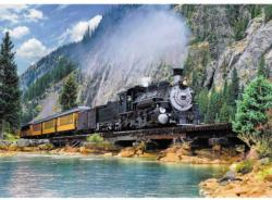 Mountain Train Lakes / Rivers / Streams Jigsaw Puzzle