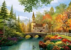 Autumn Nostalgia Lakes / Rivers / Streams Jigsaw Puzzle