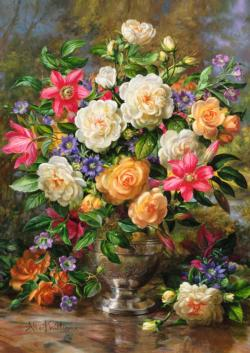 Flowers for the Queen Elizabeth Fine Art Jigsaw Puzzle