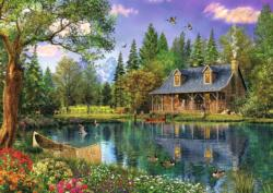 Afternoon Idyll Cottage / Cabin Jigsaw Puzzle