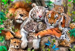 Nap Time M Tigers Double Sided Puzzle