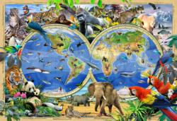 Animal Kingdom L Maps / Geography Double Sided Puzzle