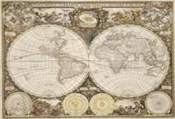 Antique World Map M Maps / Geography Double Sided Puzzle