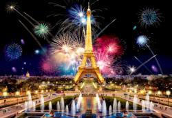 Paris by Night M Eiffel Tower Double Sided Puzzle