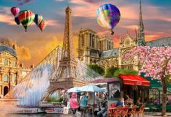 Spring in Paris L Paris Double Sided Puzzle