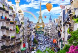 Bustling Paris L Paris Double Sided Puzzle