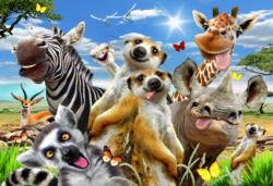 Welcome to Africa M Jungle Animals Double Sided Puzzle