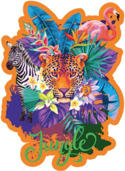 Jungle M Jungle Animals Double Sided Puzzle