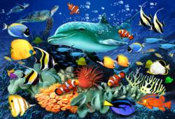 Underwater Adventures XL Fish Double Sided Puzzle