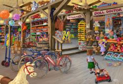 In the Toyshop XL General Store Double Sided Puzzle