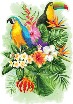 Tropical Birds L Birds Double Sided Puzzle