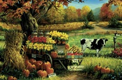 Countryside Stand Fall Jigsaw Puzzle