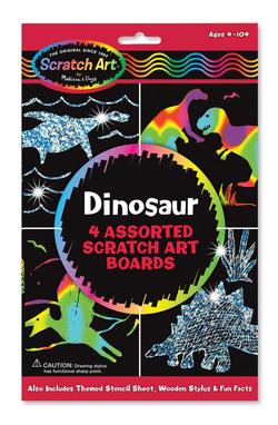 Dinosaur Scratch Art Boards Arts and Crafts