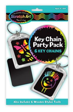 Key Chain Scratch Art Party Pack Arts and Crafts
