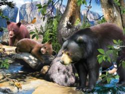 Four Black Bears Wildlife Jigsaw Puzzle