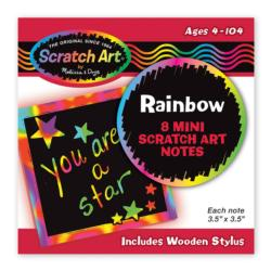 Rainbow Mini Scratch Art Notes (in Display) Arts and Crafts